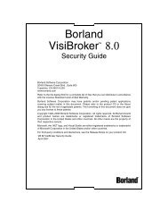 VisiBroker Security Guide - Borland Technical Publications