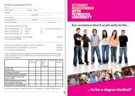 Student Shadowing application form - Plymouth University