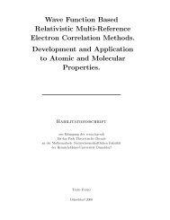 Wave Function Based Relativistic Multi-Reference Electron ...
