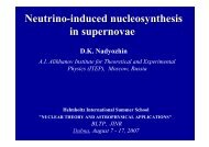Neutrino-induced nucleosynthesis in supernovae - JINR