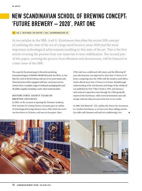 New Scandinavian School Of Brewing Concept Future Brewery