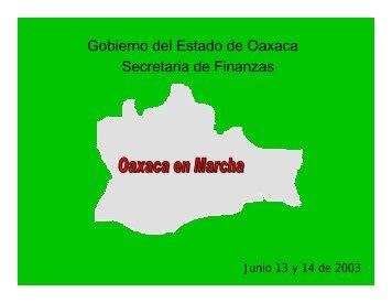 Gobierno del Estado de Oaxaca Secretaria de Finanzas