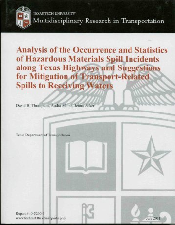 Analysis of the occurrence and statistics of hazardous ... - CTR Library
