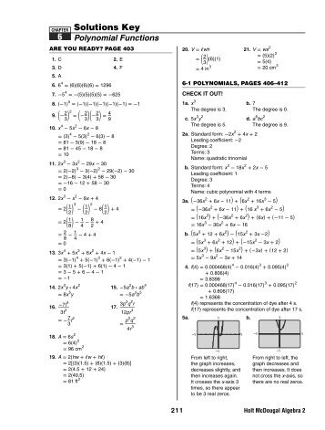 Holt mcdougal algebra 1 worksheet answer key