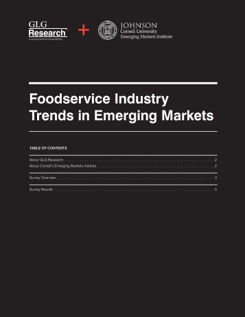 Food Service Industry Trends in Emerging Markets - Johnson ...