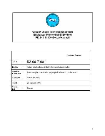 1 Introduction - Gebze Yüksek Teknoloji Enstitüsü