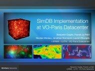 SimDB Implementation at VO-Paris Datacenter - IVOA