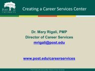 Creating a Career Services Center