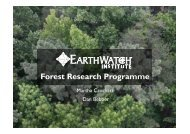 Forest Research Programme - Oxford Centre for Tropical Forests