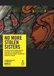 No More Stolen Sisters: The Need for a ... - YWCA Canada