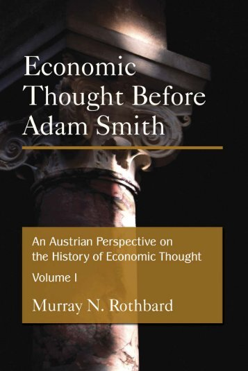 An Austrian Perspective on the History of Economic Thought ...