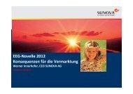 EEG-Novelle 2012 - Sunova