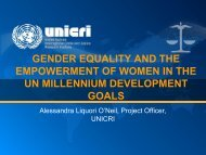 gender equality and empowerment of women in the millennium ...
