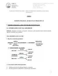 FIZIOPATOLOGIA APARATULUI DIGESTIV II I ... - Fiziopatologie