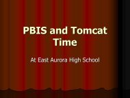 PBIS and Tomcat Time - East Aurora School District #131