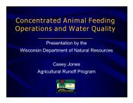 Concentrated Animal Feed Systems and Water Quality