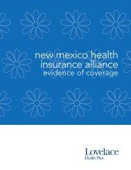 New Mexico Health Insurance Alliance - Lovelace Health Plan