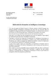 Référentiel de formation en intelligence économique - CRRM à