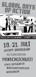 Flyer als PDF - Occupy Düsseldorf