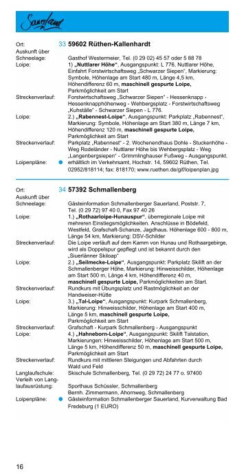 Loipenplan - Gasthof Pension Frisse-Faust