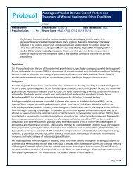 Autologous Platelet-Derived Growth Factors as a Treatment of ...