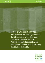 Testing of Emissions from Office Devices during ... - Der Blaue Engel