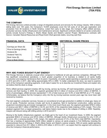 Flint Energy Services Limited (TSX:FES) - Value Investigator