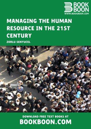 human resource management challenge 21 century