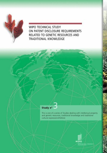 technical study on disclosure requirements in patent systems ... - WIPO