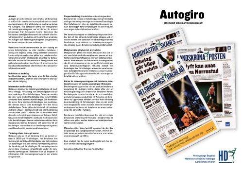Autogiro - Helsingborgs Dagblad 2b5b139a93477