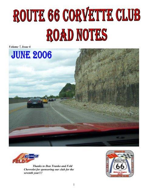Volume 7, Issue 6 - Route 66 Corvette Club