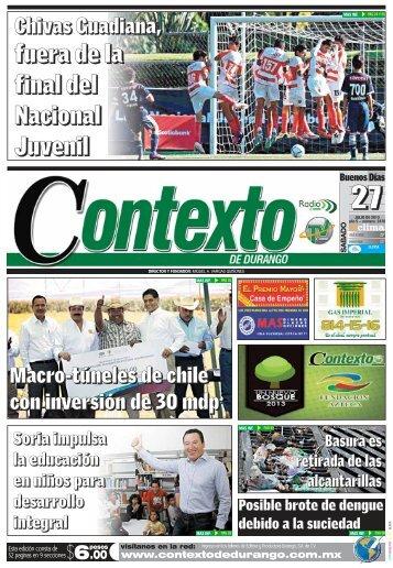 27/07/2013 - Contexto de Durango