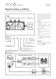 Electronic drivers type E-RP-AC