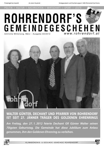 Gemeindezeitung 03/2012 - Rohrendorf bei Krems