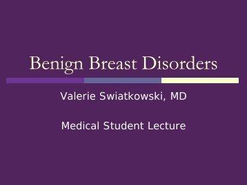 Benign Breast Disorders