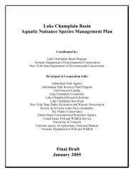Lake Champlain Basin - Aquatic Nuisance Species Task Force