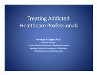 Treating Addicted Health Care Professionals - PCSS-O