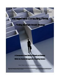 Chapter 2 The Danish Management Consulting Industry