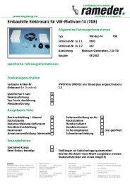Einbauhilfe Elektrosatz für VW-Multivan-T4 (7DB)
