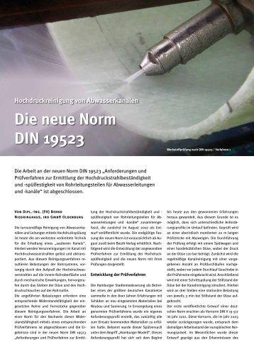 Die neue Norm DIN 19523