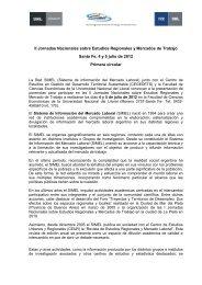 II Jornadas Nacionales sobre Estudios Regionales y ... - Simel