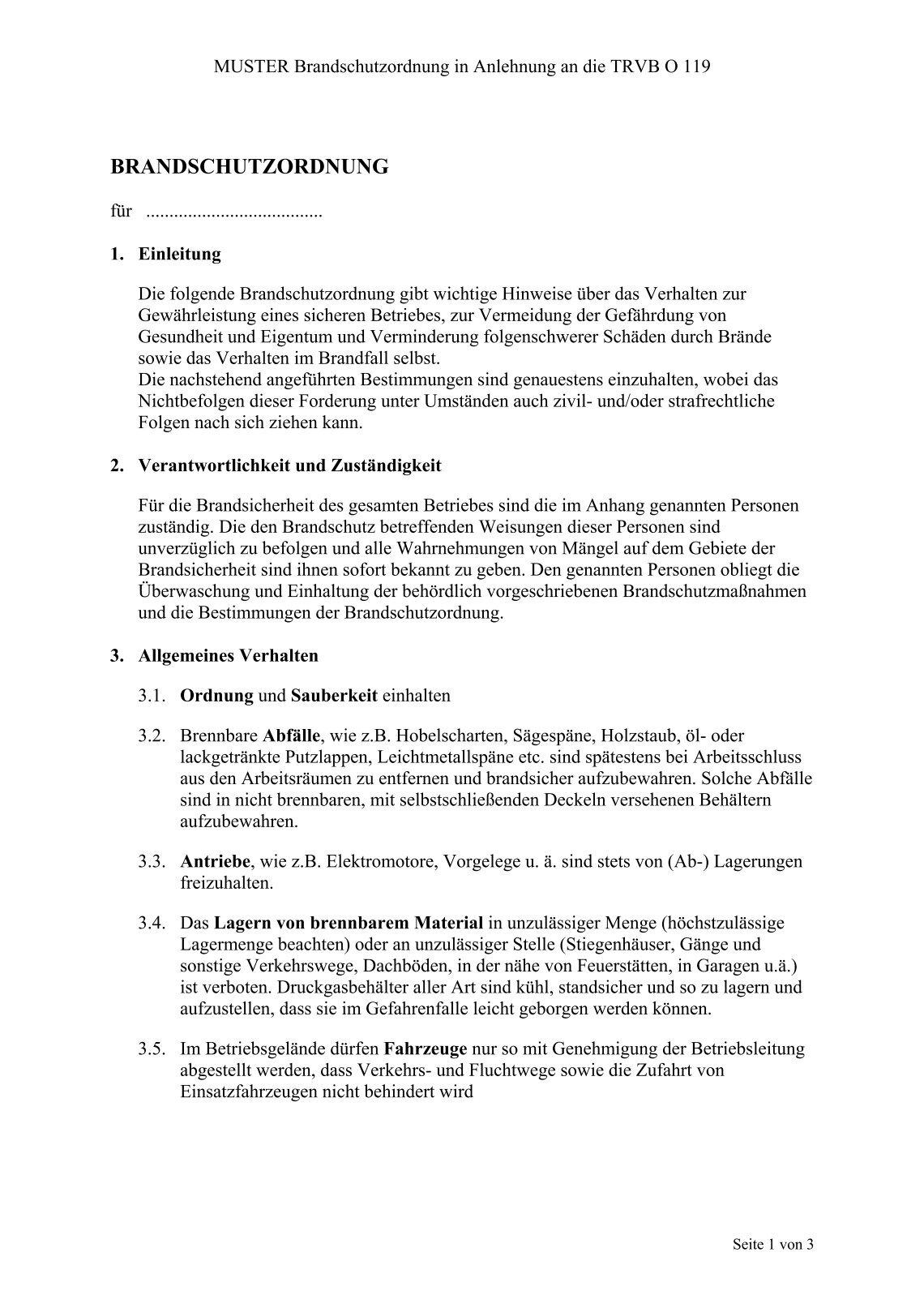 holzindustrieat - Brandschutzordnung Muster