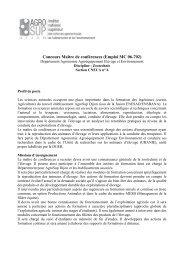 Concours Maître de conférences (Emploi MC 06-702) - Doctorat