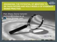 Mentor update - Facilitaing Evidence Based Practice - Faculty of ...