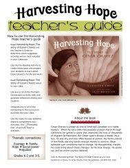 Harvesting Hope Teachers Guide - Yuyi Morales