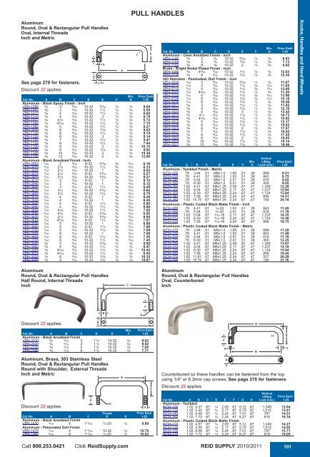 Aluminum T-Handle 1 Each 1//2 Wide 10-24 thds