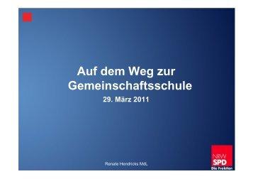 Vortrag von Renate Hendricks am 29. März 2011 in Krefeld