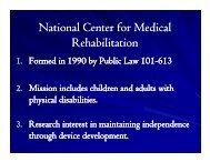 National Center for Medical Rehabilitation - CAPSIL