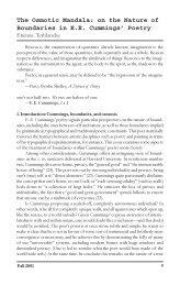 on the Nature of Boundaries in EE Cummings' Poetry - Gvsu