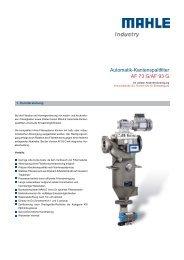 Automatik-Kantenspaltfilter AF 73 G/AF 93 G - MAHLE Industry ...